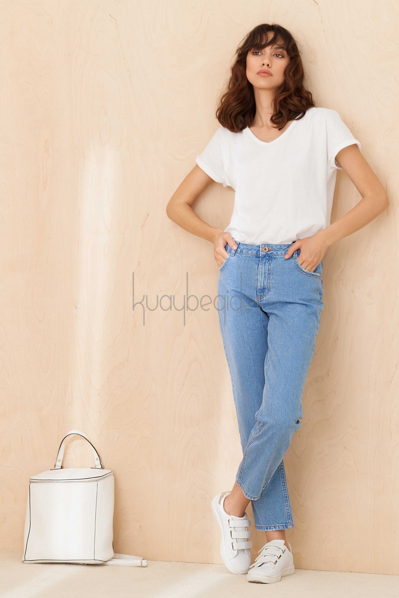 Kuaybe Gider - Buz Mavi Mom Jeans