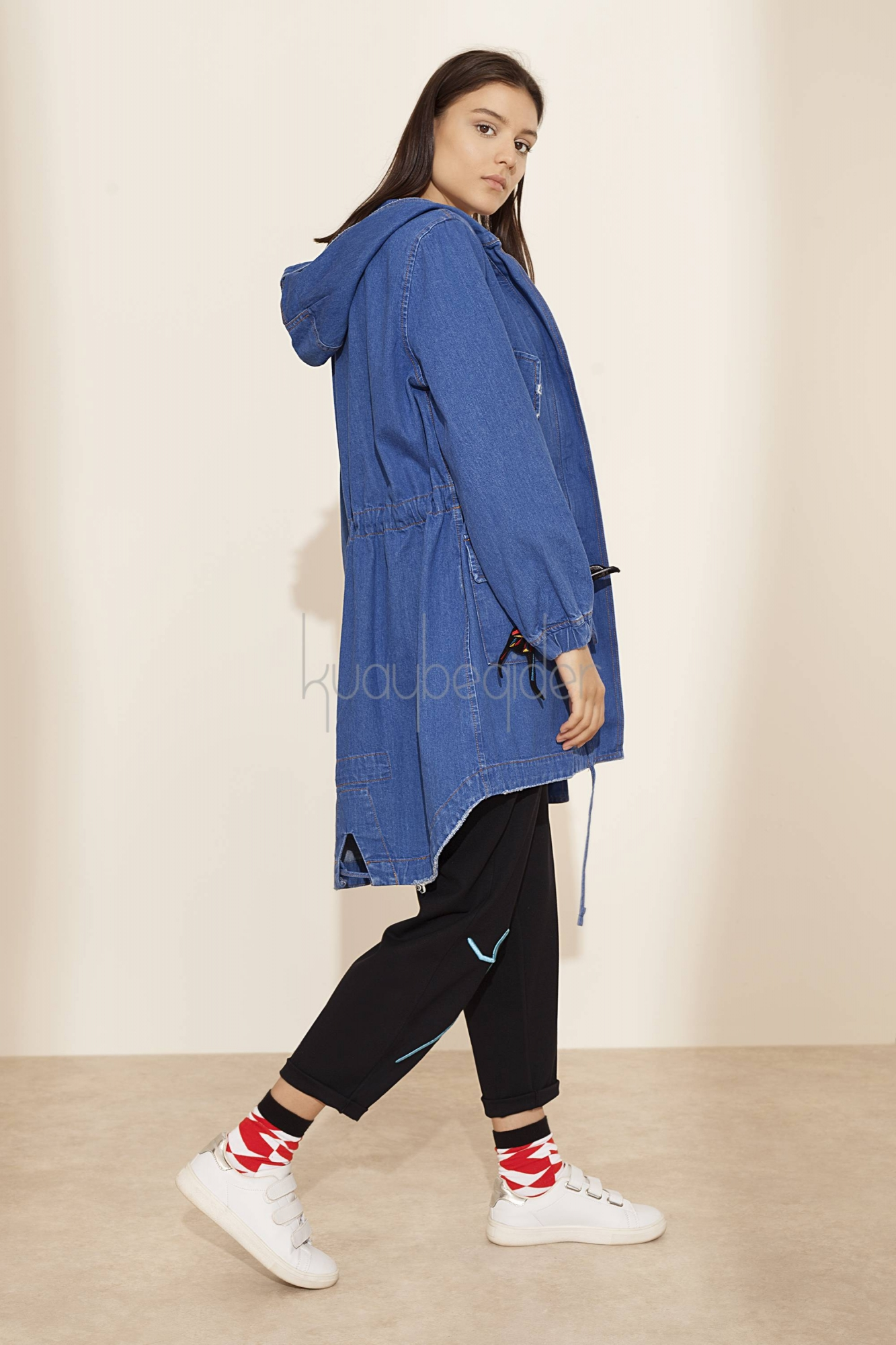 Kuaybe Gider - D7002 Electric Blue Denim Parka