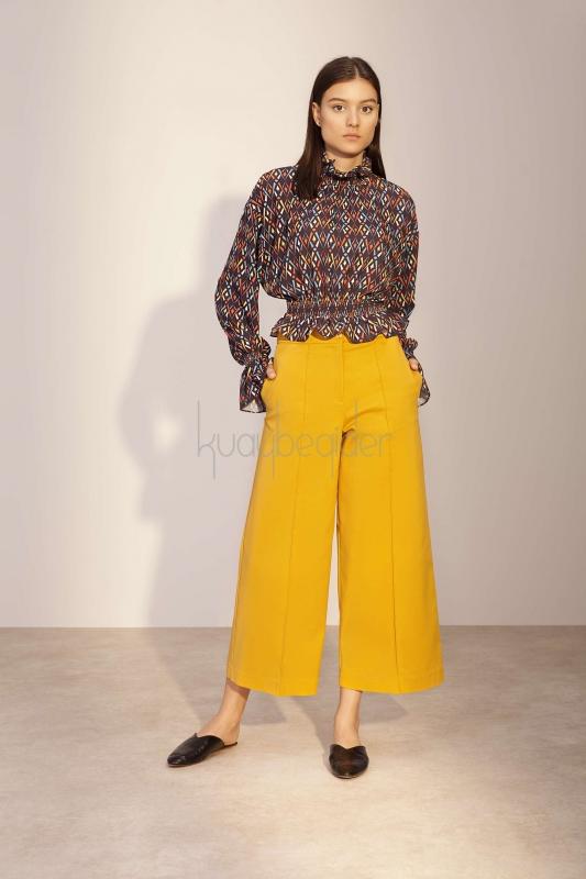 Kuaybe Gider - Hardal Sole Pantolon