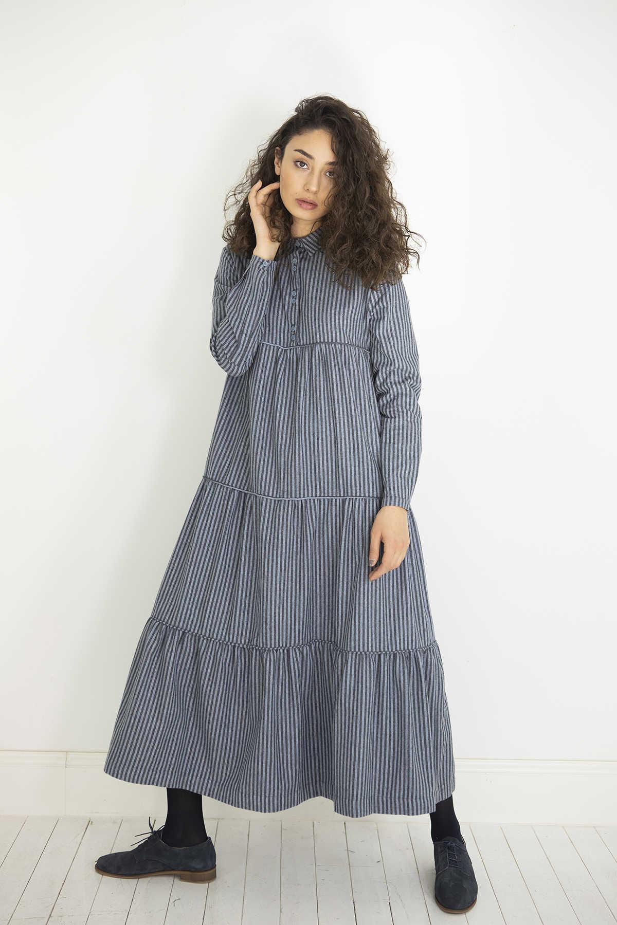 Kuaybe Gider Gri Elbise 2101