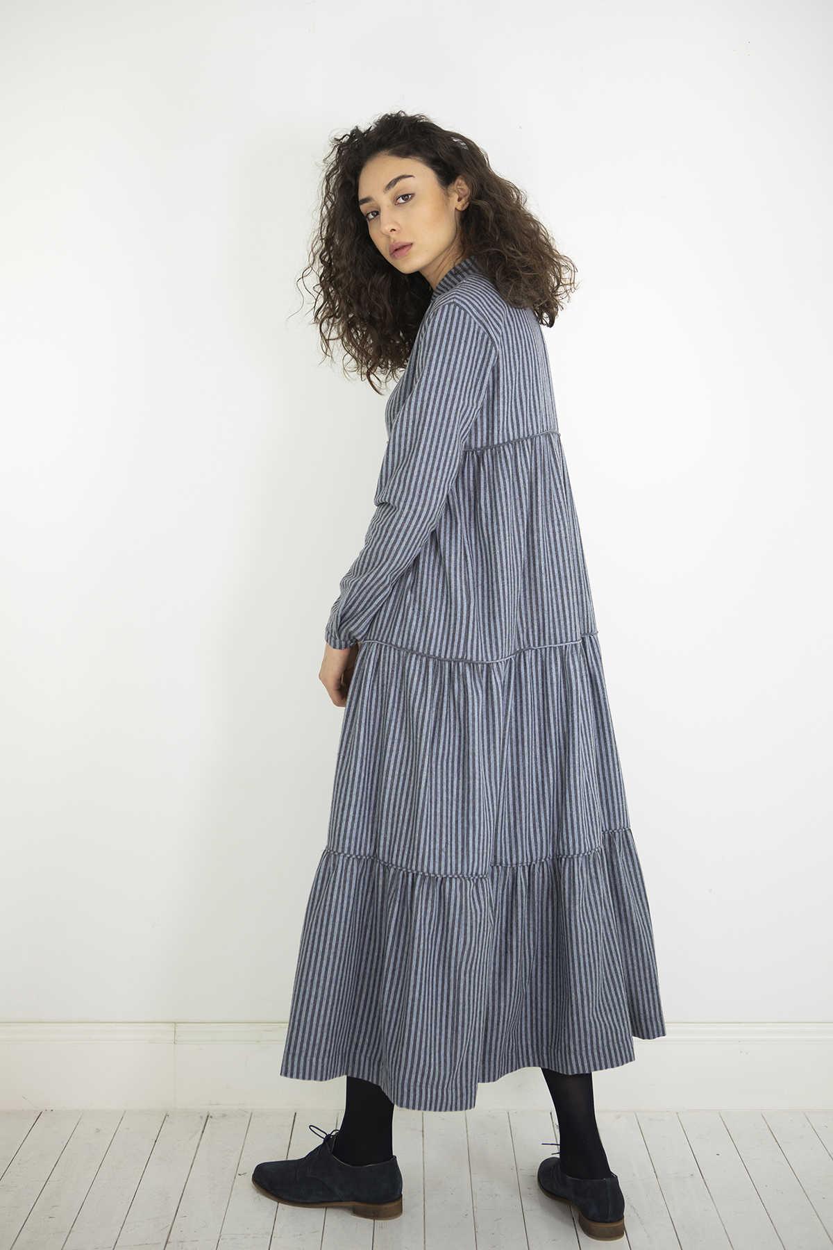 Kuaybe Gider - Kuaybe Gider Gri Elbise 2101