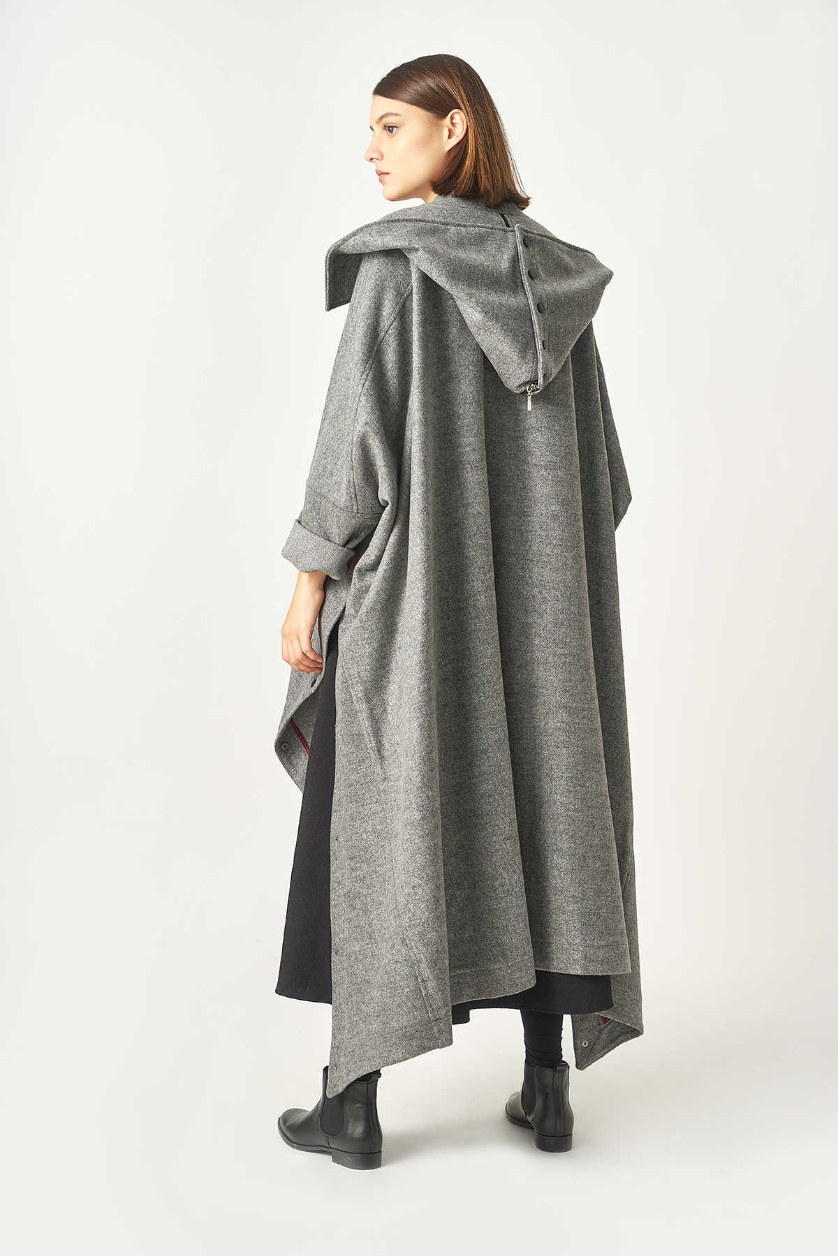 Kuaybe Gider Gri Kadın Palto 7099