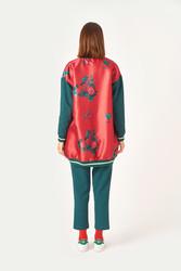 Kuaybe Gider Kırmızı Kadın Bomber 7104 - Thumbnail