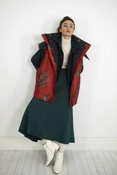 Kuaybe Gider Kırmızı Kadın Yelek 8027 - Thumbnail