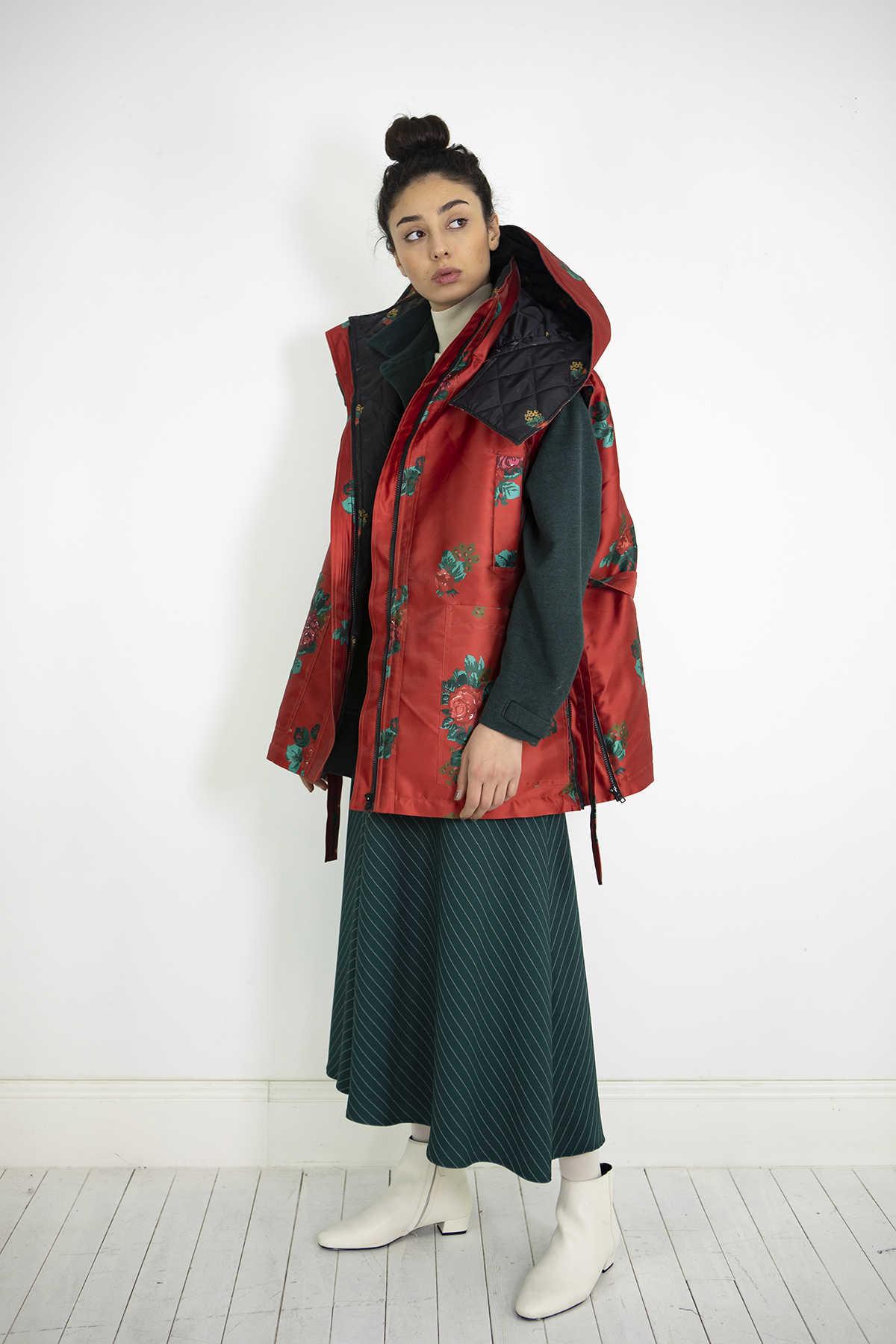 Kuaybe Gider - Kuaybe Gider Kırmızı Kadın Yelek 8027