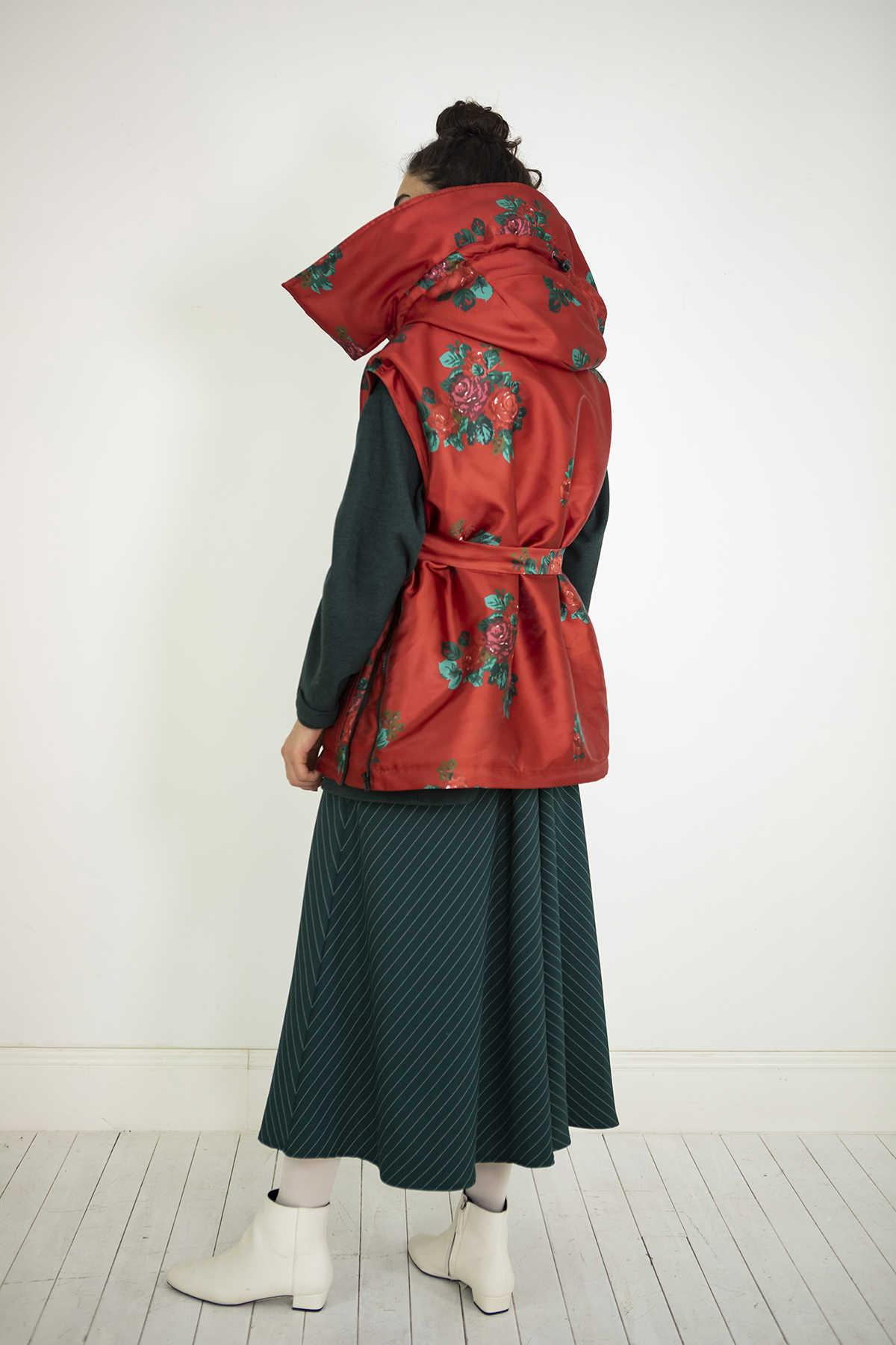 Kuaybe Gider Kırmızı Kadın Yelek 8027