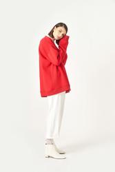 Kuaybe Gider Koton Kırmızı Kadın Sweat 1060 - Thumbnail