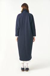 Kuaybe Gider Lacivert Kadın Palto 7101 - Thumbnail