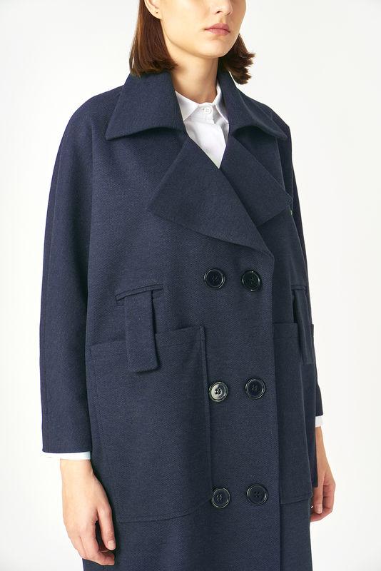 Kuaybe Gider Lacivert Kadın Palto 7101