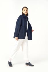 Kuaybe Gider Lacivert Kadın Palto 7102 - Thumbnail