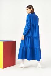 Kuaybe Gider Mavi Elbise 2101 - Thumbnail