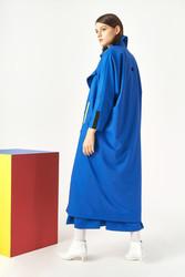 Kuaybe Gider Mavi Kadın Trench 7100 - Thumbnail