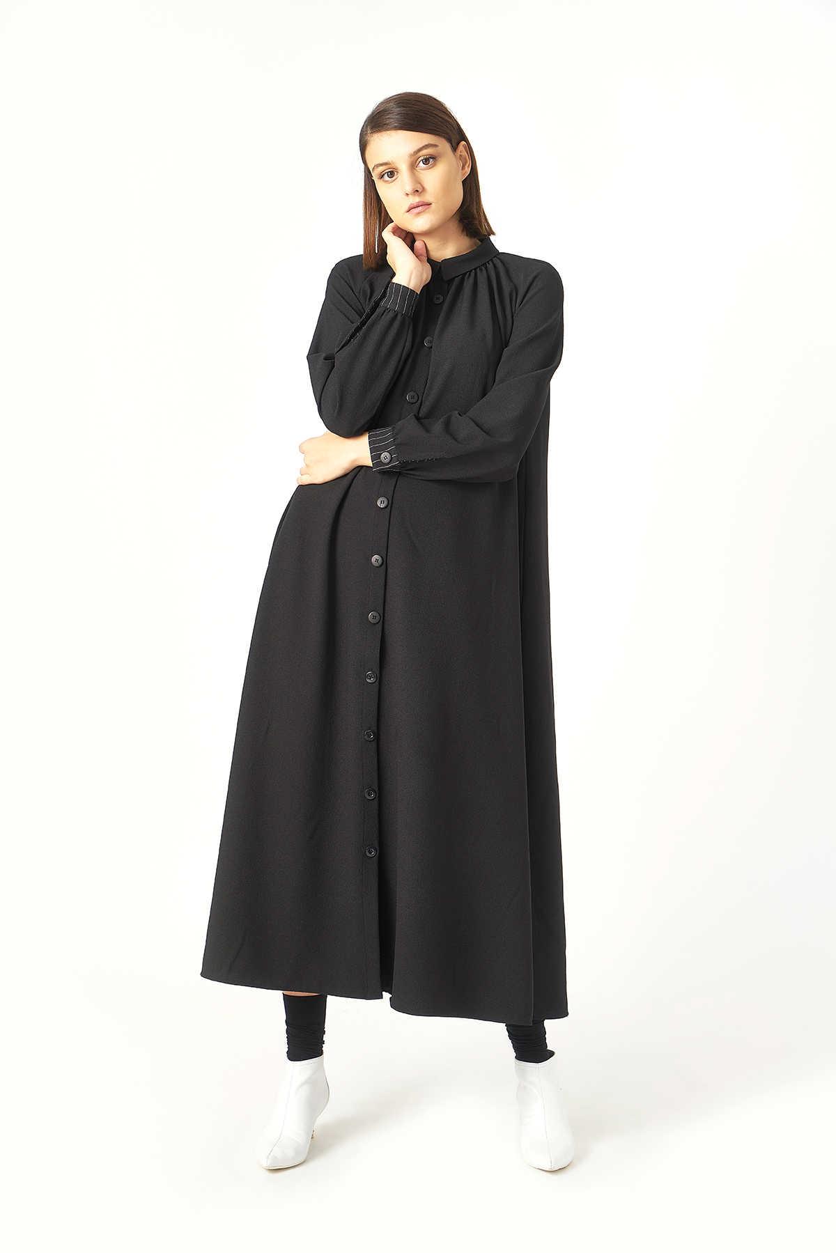 Kuaybe Gider - Kuaybe Gider Siyah Elbise 2100