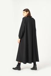 Kuaybe Gider Siyah Elbise 2100 - Thumbnail