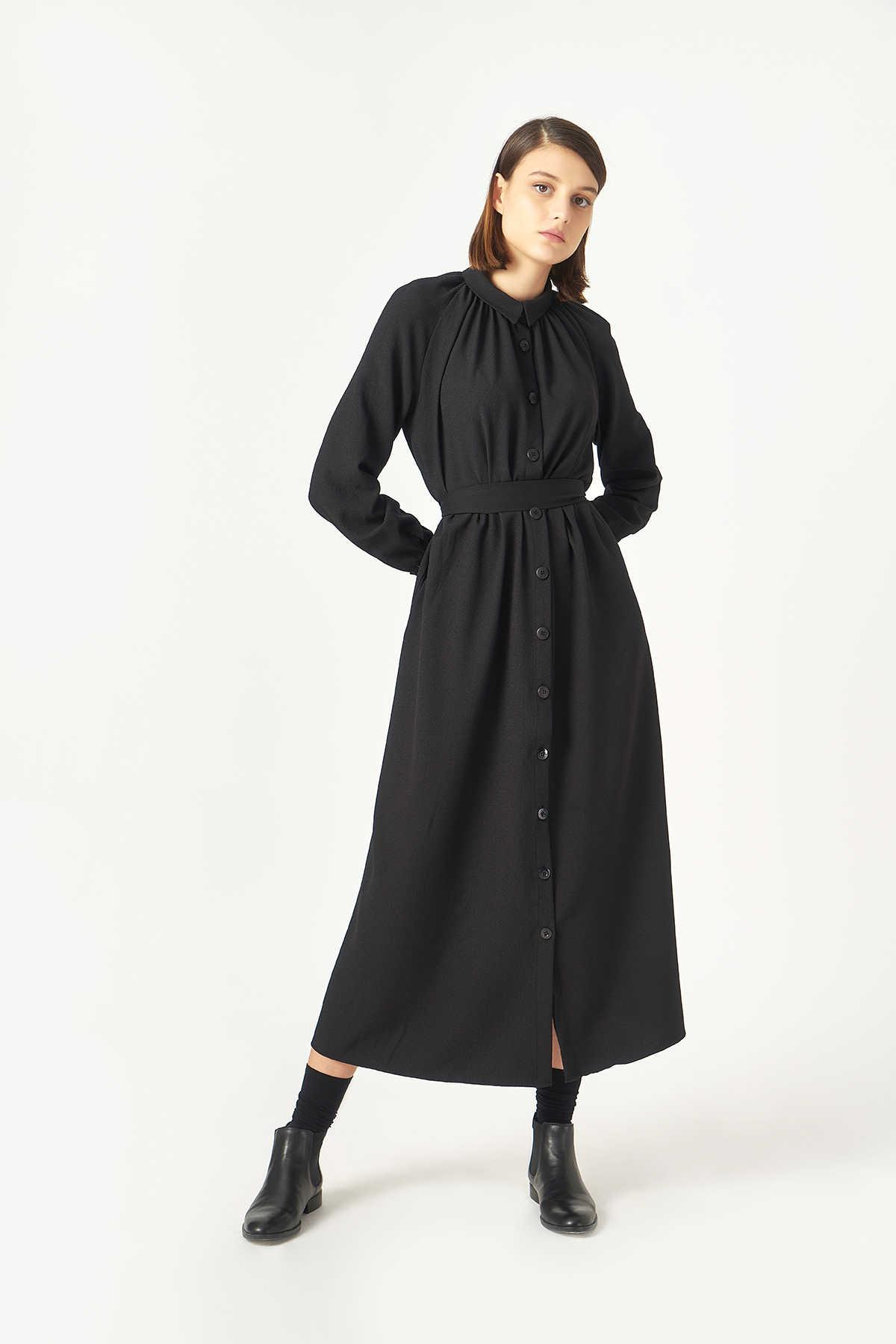 Kuaybe Gider Siyah Elbise 2100