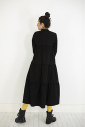 Kuaybe Gider Siyah Elbise 2101 - Thumbnail