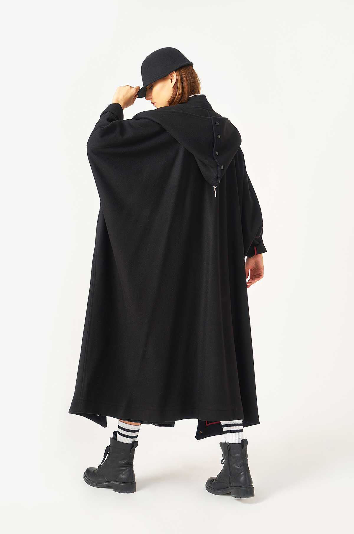 Kuaybe Gider Siyah Kadın Palto 7099