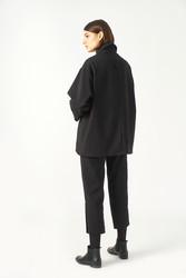 Kuaybe Gider Siyah Kadın Palto 7103 - Thumbnail