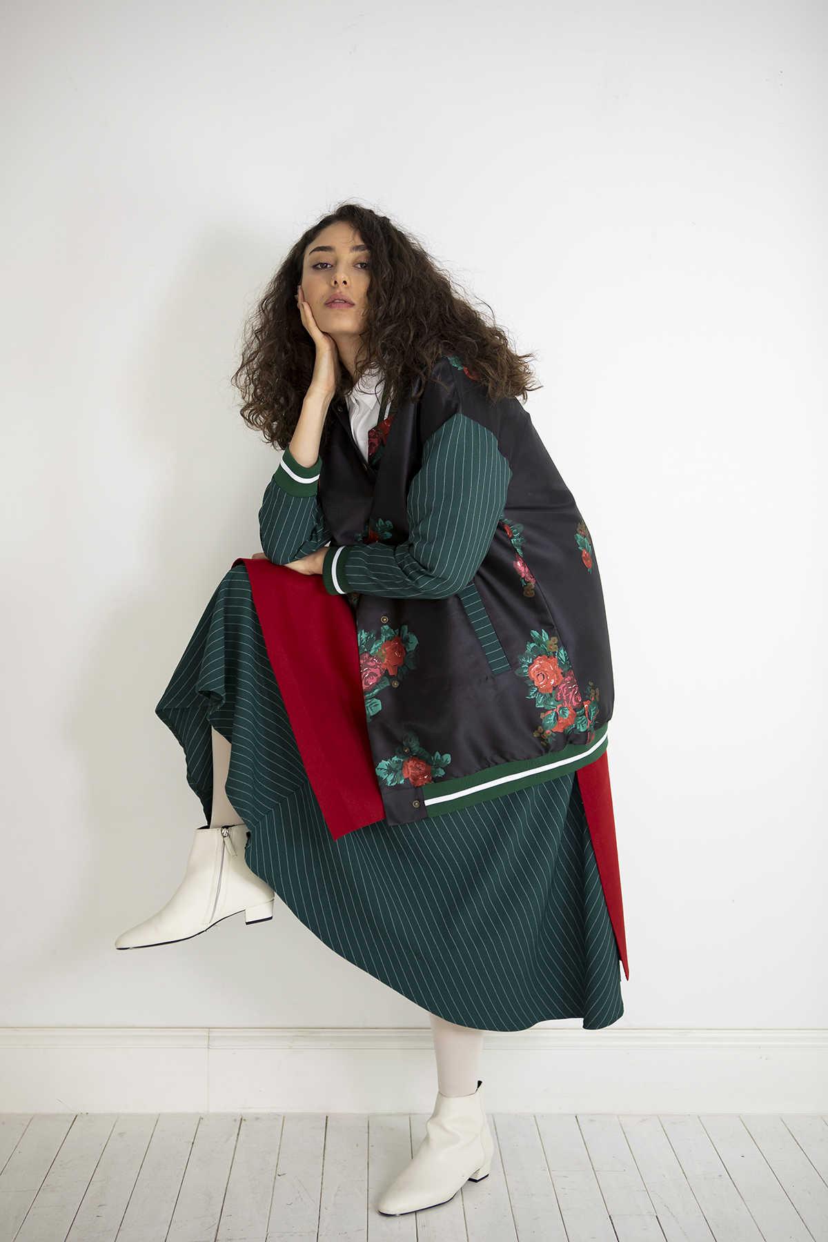 Kuaybe Gider - Kuaybe Gider Siyah Kadın Bomber 7104