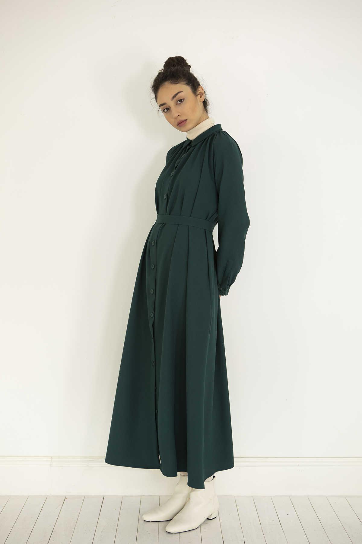Kuaybe Gider Yeşil Elbise 2100