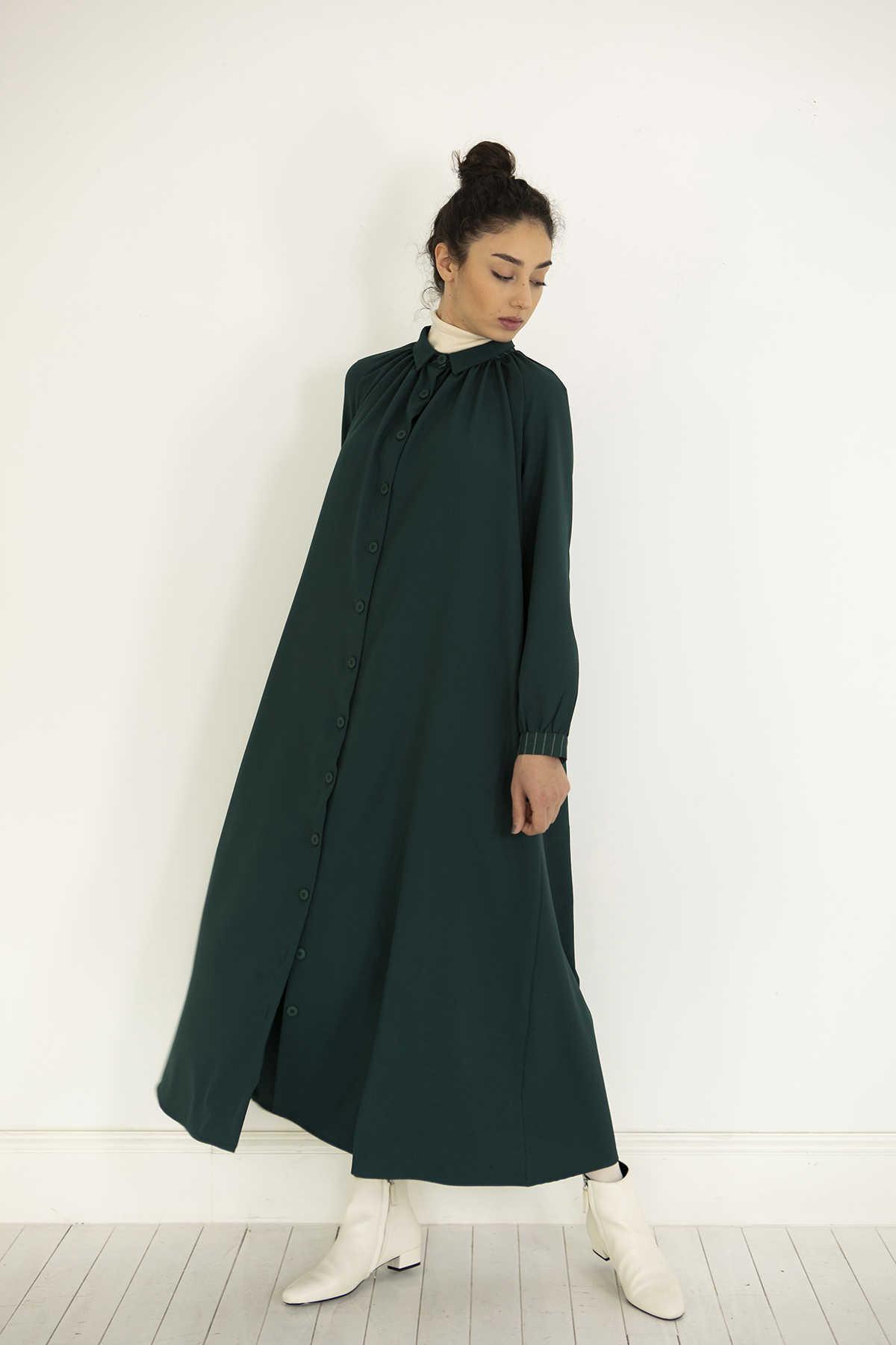 Kuaybe Gider - Kuaybe Gider Yeşil Elbise 2100