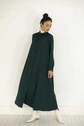 Kuaybe Gider Yeşil Elbise 2100 - Thumbnail