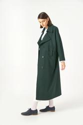 Kuaybe Gider Yeşil Kadın Palto 7101 - Thumbnail