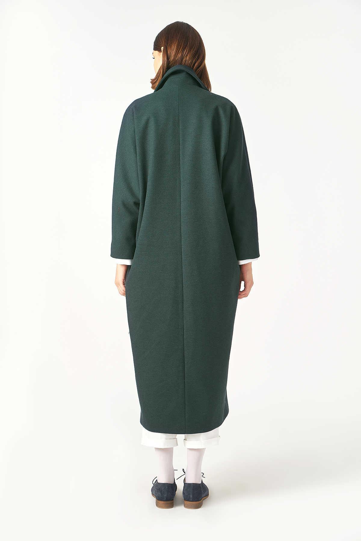 Kuaybe Gider Yeşil Kadın Palto 7101