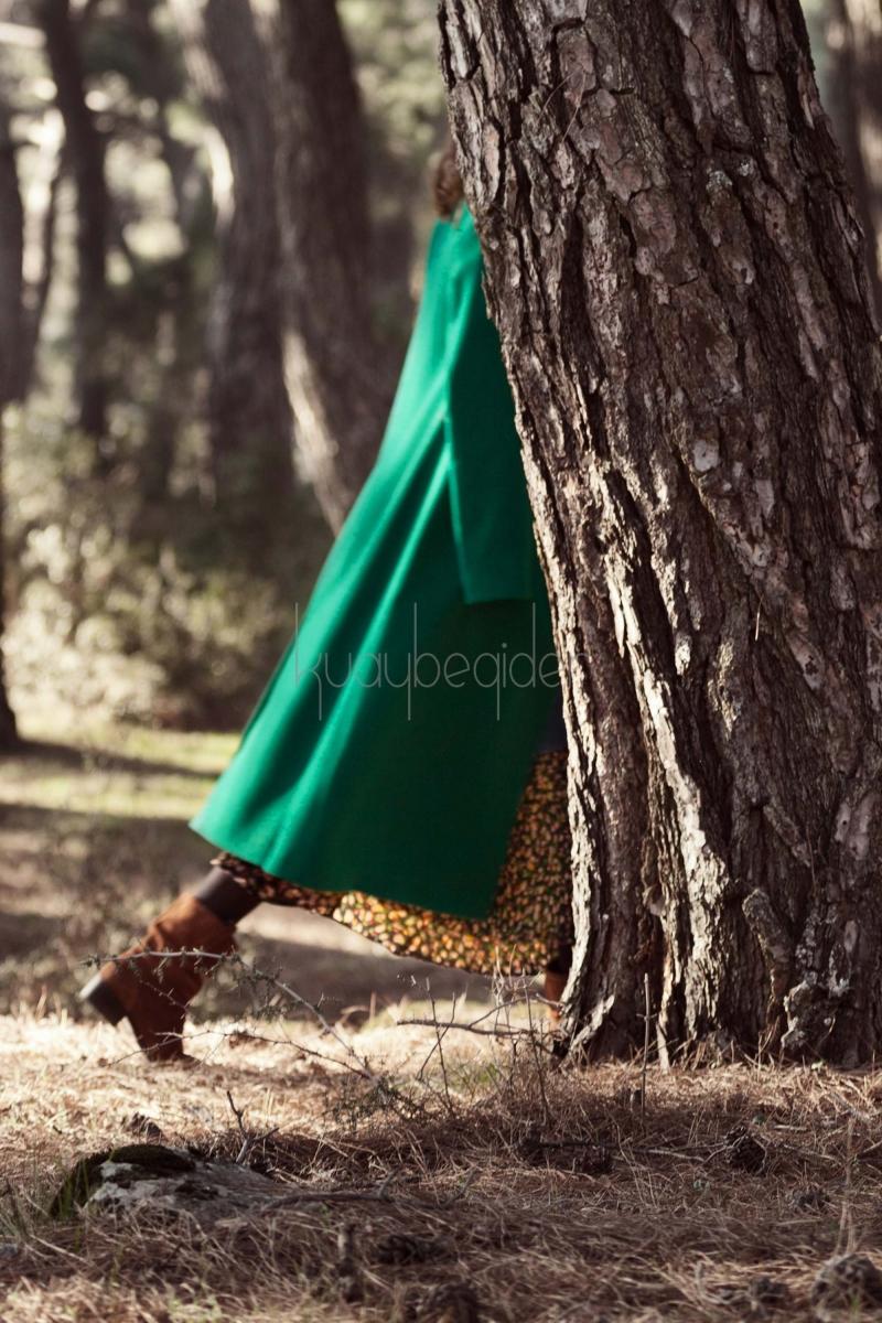 Kuaybe Gider - Yeşil Seküler Palto