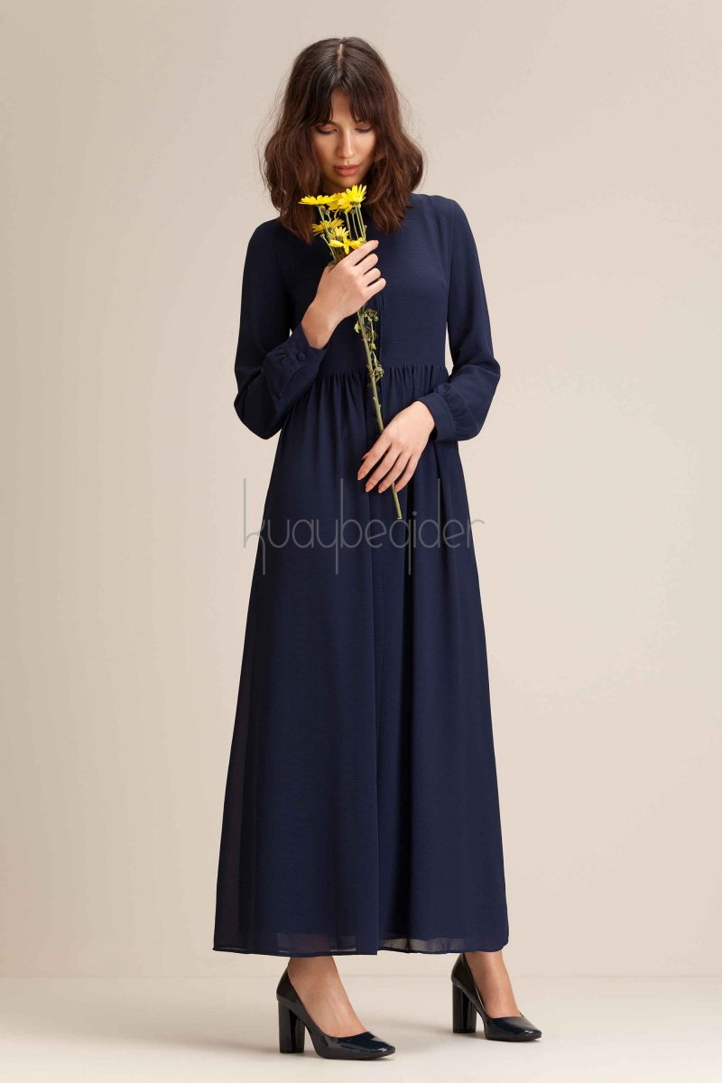 Kuaybe Gider - Lacivert Possione Elbise