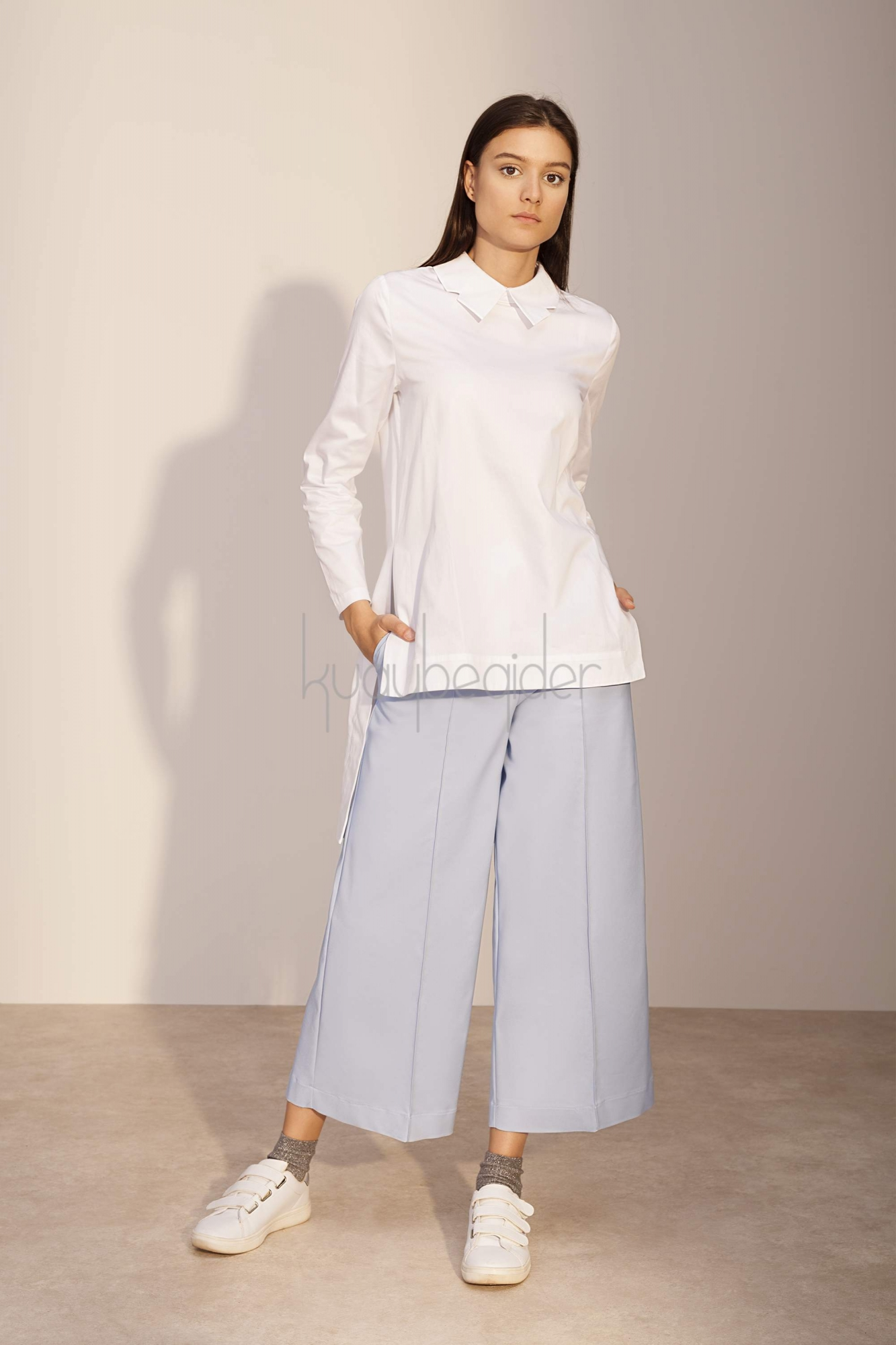 Kuaybe Gider - Mavi Sole Pantolon