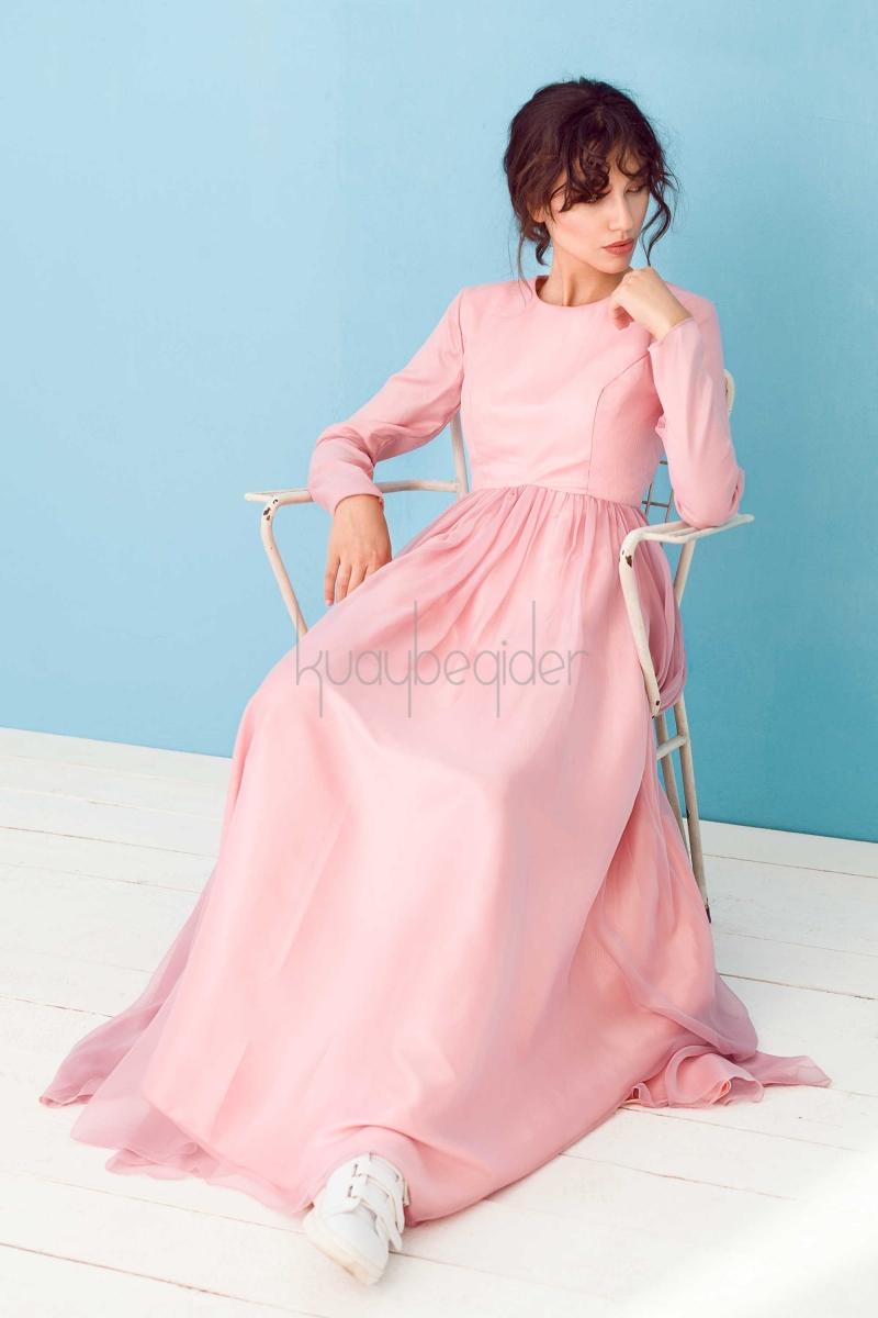 Kuaybe Gider - Pudra Alba Abiye Elbise