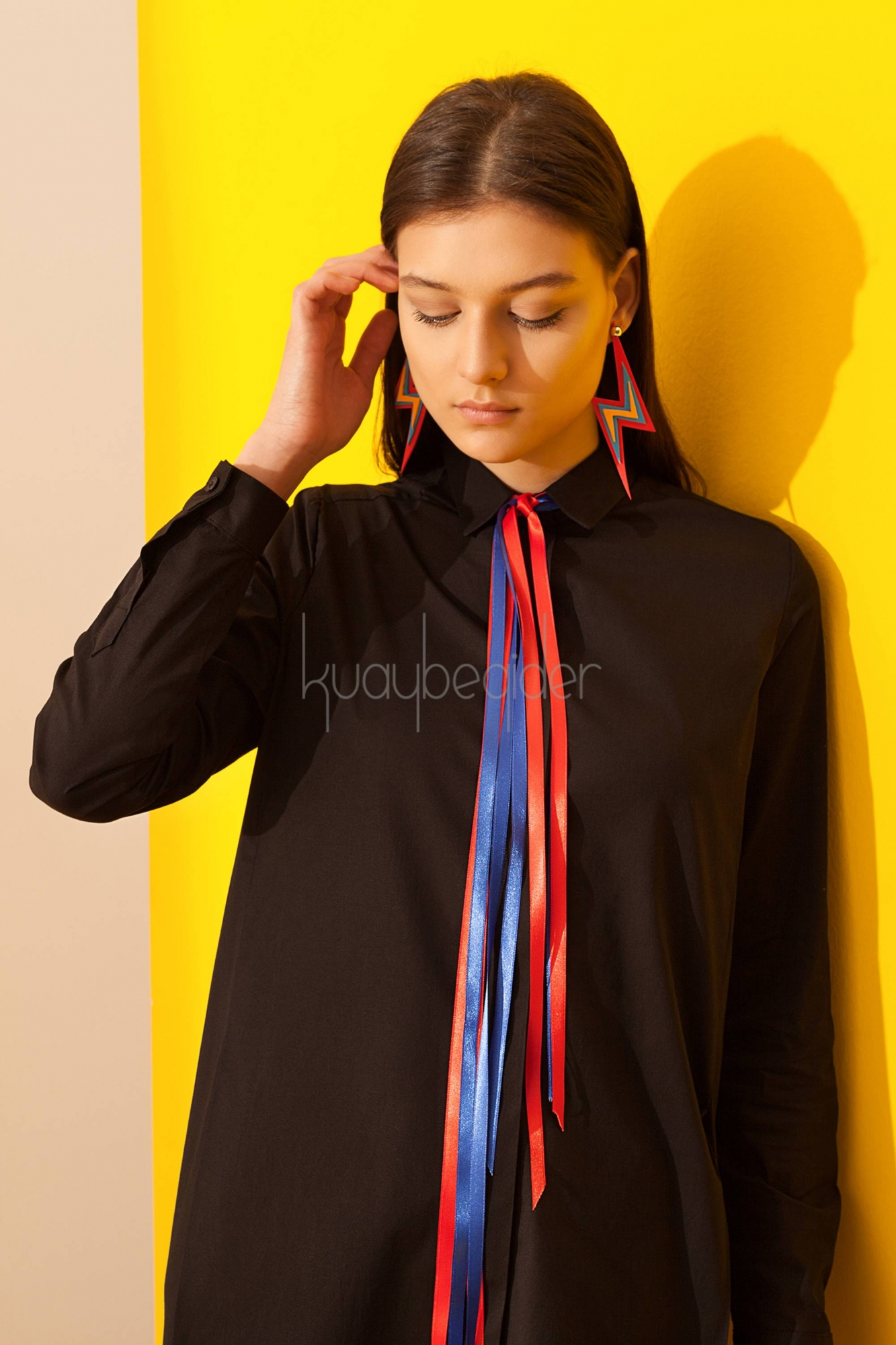 Kuaybe Gider - 5077 Siyah Fenomeno Tunik