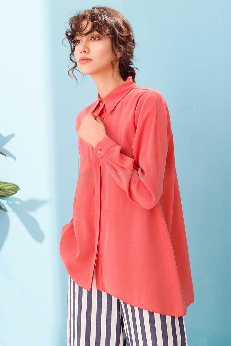 Kuaybe Gider - Nar Çiçeği Stella Gömlek