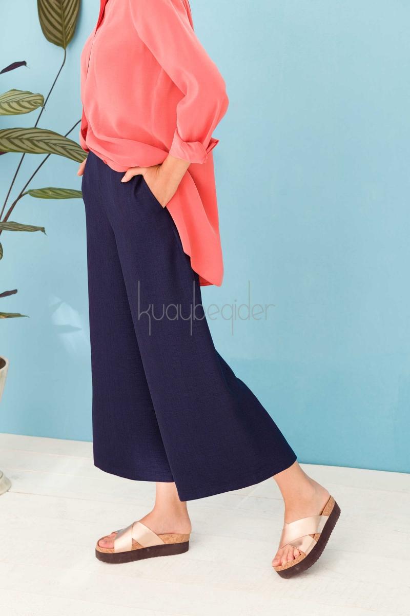 Kuaybe Gider - Lacivert Foglia Pantolon