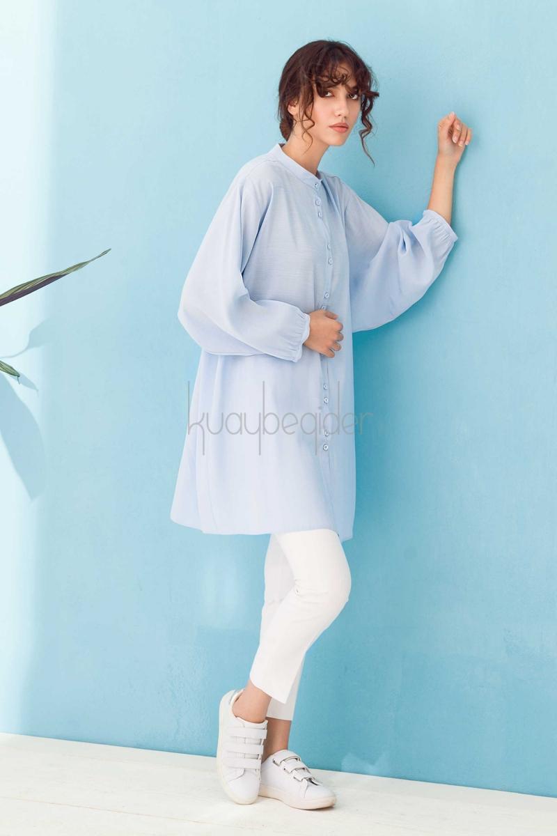 Kuaybe Gider - Mavi Oyster Tunik