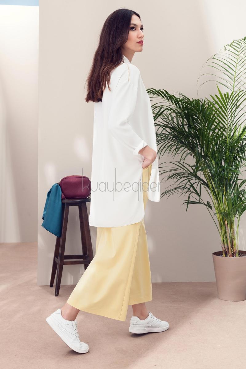 Kuaybe Gider - Sarı Rang Roll Pantolon