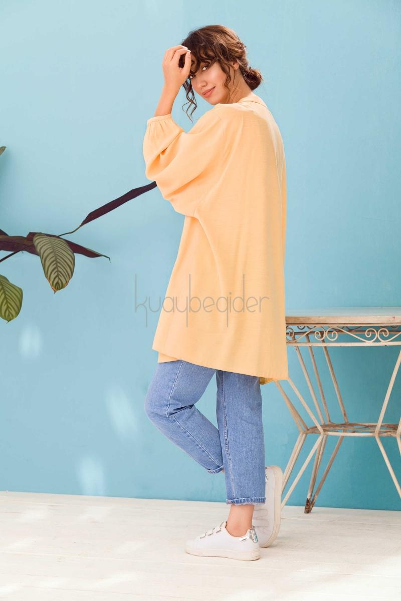 Kuaybe Gider - Sarı Oyster Tunik