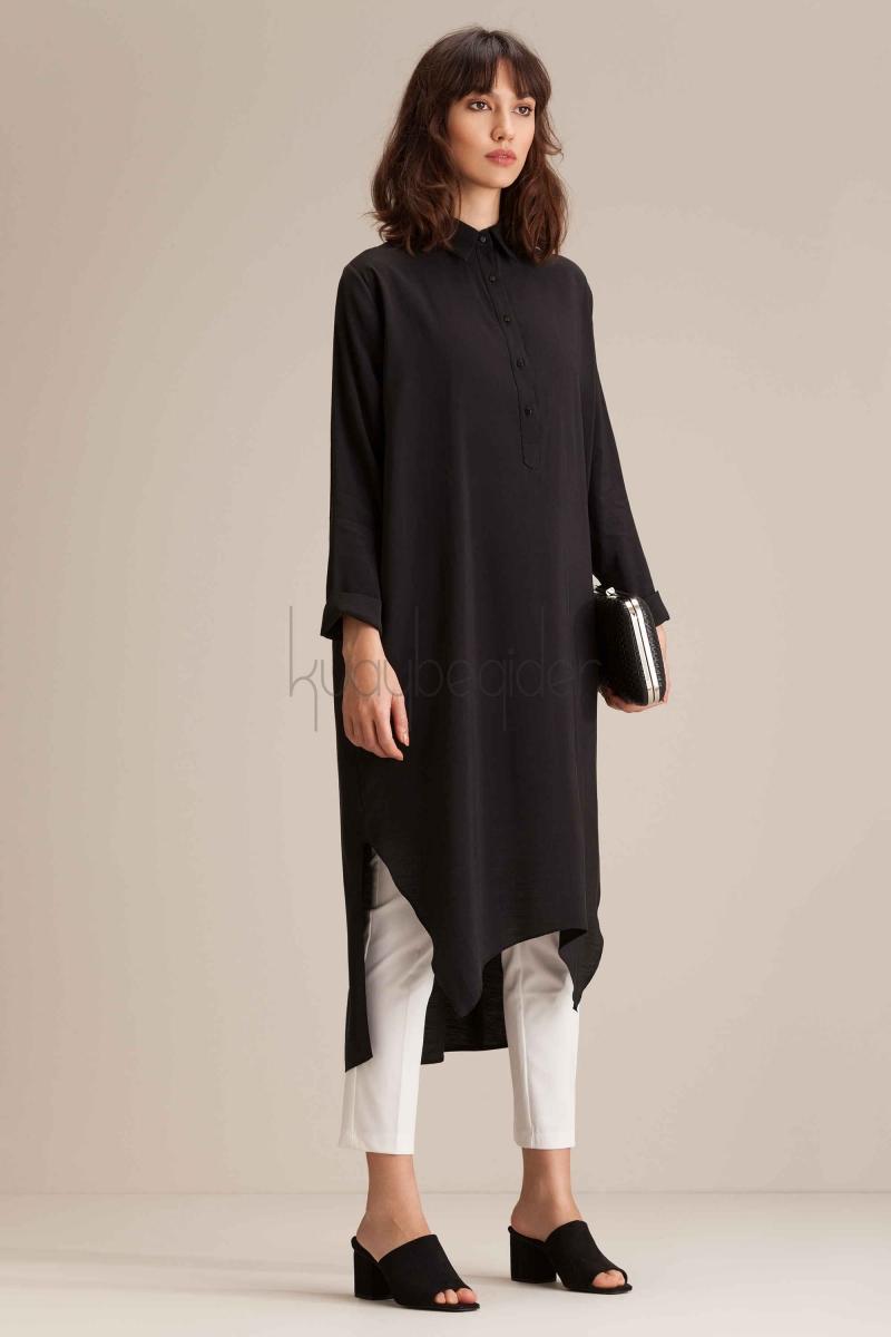 Kuaybe Gider - Siyah Long A Way Tunik
