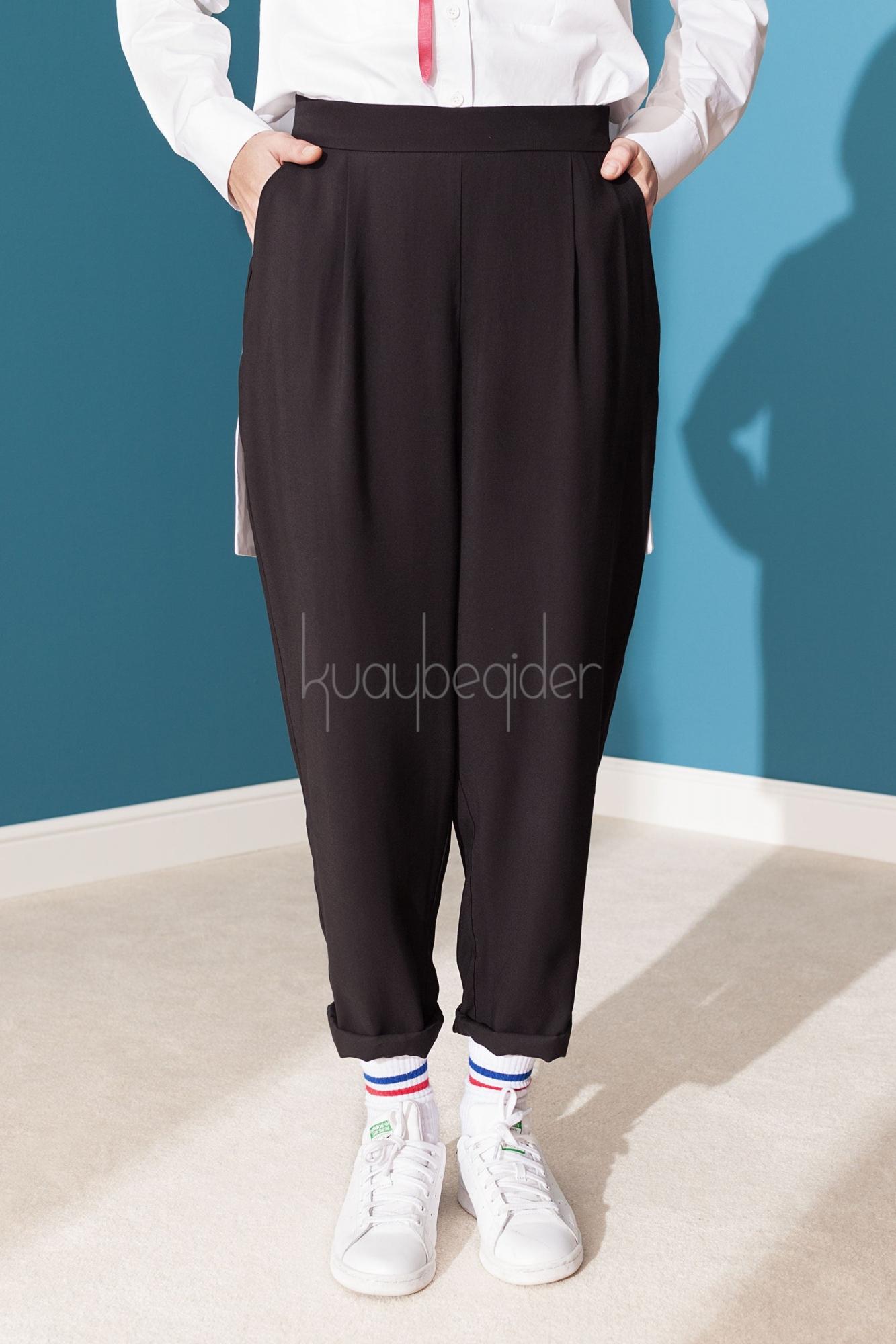 Kuaybe Gider - Siyah Paix Pantolon